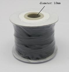 Wax koord 1 mm zwart