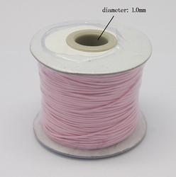 Wax koord 1 mm Pink