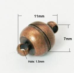 Magneet Slot 11x7 mm Koper
