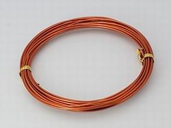 Aluminium draad, 1,5 mm dik.  +/- 10 meter OrangeRed