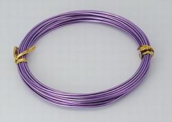 Aluminium draad, 1,5 mm dik.  +/- 10 meter LightPurple