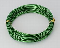 Aluminium draad, 1,5 mm dik.  +/- 10 meter Green