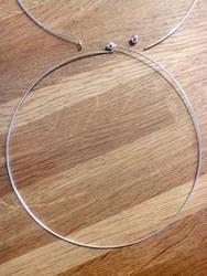Choker met haak bal sluiting, nikkelkleurig 145mm diameter