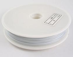 50 meter rol Tigertail draad 0,45 mm wit
