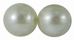 "50 stuks 12mm kunststof kralen ""pearl white"""