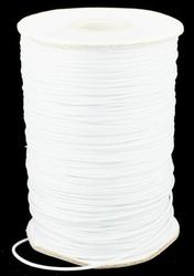 Waxed-poly koord 0,5mm HQ-WT wit