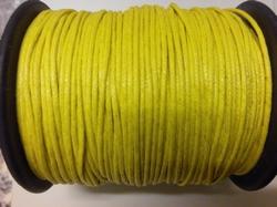 Waxkoord 1 mm geel per meter