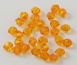 15 stuks Imitatie swarovski 5301 bicone 4mm Orange