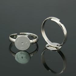 Metalen ring 14 - 16 mm nikkelkleur nikkelvrij