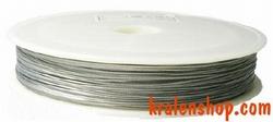 80 meter rol Tigertail draad 0,45 mm zilver