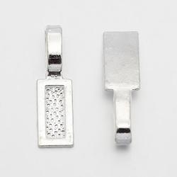 Plakoog (bail) voor zelfgemaakte hangers 26 x 8 mm rechthoek