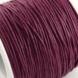 Katoen waxkoord 1mm Purple