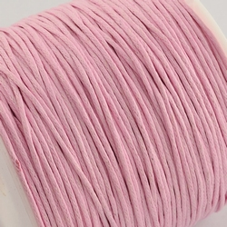 Katoen waxkoord 1mm Pink