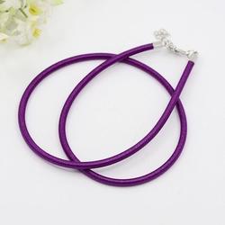 3mm zijde gekleurde ketting met verlengkettinkje #22 purple