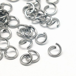 RVS dikke open 6mm ringetjes 10 gram +/- 100 stuks