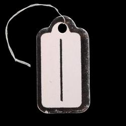 100 prijskaartjes wit-zilver 23x13mm