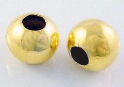 40 goudkleurige metalen balletjes 4 mm