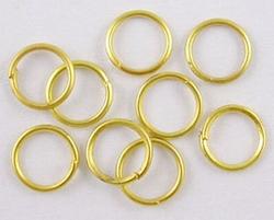 100 5mm ringetjes goudkleurig nikkelvrij