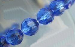 8mm facetkraal blauw #24