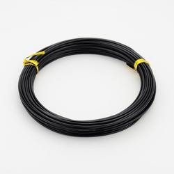 Aluminium draad, 1,5 mm dik.  +/- 10 meter Black