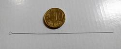 0,24 mm dikke 9cm lange kralen rijgnaald met groot oog