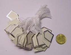 100 prijskaartjes met zilverkleurige rand 18x24mm