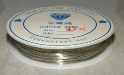 Rol koperdraad 0,4mm dik nikkel / zilver kleurig 17 meter
