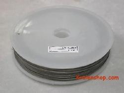 50 meter rol Tigertail draad 0,38 mm zilver