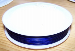 100 meter rol Tigertail draad 0,45 mm donkerblauw