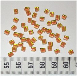 50 4x4 blokjes Lichtgroen Oranje lijn (A21)