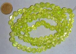 streng 100 8mm crackle kralen lime