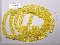 streng 100 glazen 8mm kralen geel
