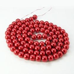streng 150 6mm glasparels rood
