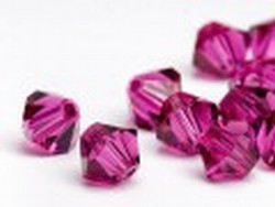 Swarovski 6mm type 5301 fuchsia
