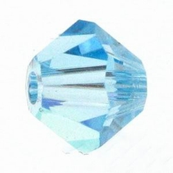 Swarovski 6mm type 5301 aquamarine