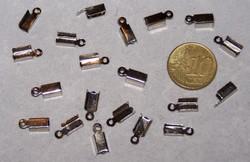 20 leerklemmetjes 12 x 4 mm nikkelkleurig