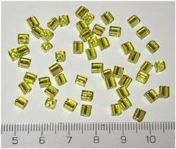 50 4x4 blokjes limoen zilveren lijn (A84)