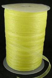 6 mm organza lint geel C15