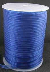 6 mm organza lint donkerblauw C54
