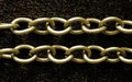 ketting bronskleurig 5x6mm schakel 1mm dik 1 meter KB-01