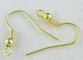 20 nikkelvrije oorhaakjes goudkleurig 1,8cm