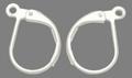 2 zilverkleurige sluitbare oorhaakjes 15 x 10mm