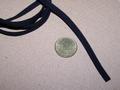 Platte brede veter 5mm zwart 1 meter