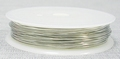 Rol koperdraad 0,6mm dik nikkel / zilver kleurig 6 meter