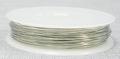 Rol koperdraad 1 mm dik nikkel / zilver kleurig 2,5 meter