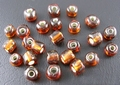 50 gram 3mm rocailles bruin silver lined #53