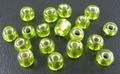 50 gram 3mm rocailles lichtgroen silver lined #24