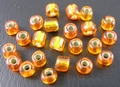50 gram 3mm rocailles oranje silver lined #29