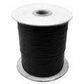 Waxkoord 4 mm zwart plat per meter