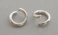50 extra dikke open 10mm ringen zilverkleurig